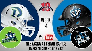 Week 4 | Nebraska Danger at Cedar Rapids Titans thumbnail