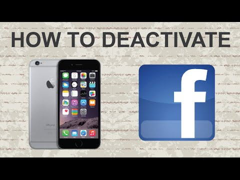 How to deactivate facebook account on app