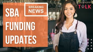 BREAKING NEWS: SBA FUNDING UPDATES | RRG, SVOG, EIDL, PPP| SHE BOSS TALK