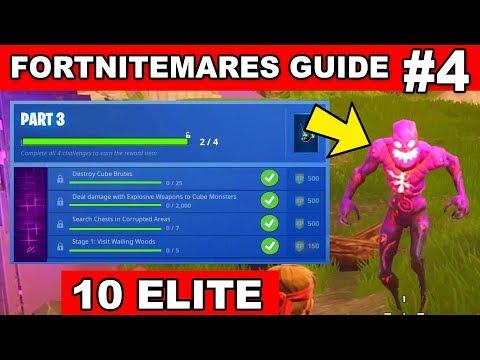 PART 4 CHALLENGES GUIDE - FORTNITEMARES (Destroy 10 ELITE Cube Monsters) In Fortnite Battle Royale