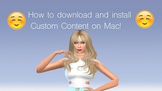 The Sims 4 ⎜ How to install Custom Content on a Mac!