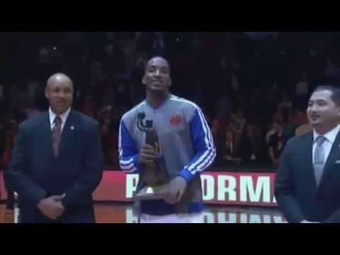 J.R.Smith receives KIA 6th Man Of The Year Award / NBA 2013 Playoffs