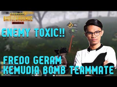 Enemy Toxic kepada Fredo!!! FREDO Geram kemudian BOMB Teammate, Funny Moments   PUBG Mobile Malaysia