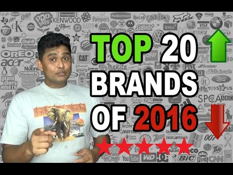 Top 20 Global Brands of 2016–Top Brands 2016