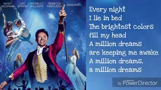 A Million Dreams - Lyrics [ 1 Hour Loop - Sleep Song ]