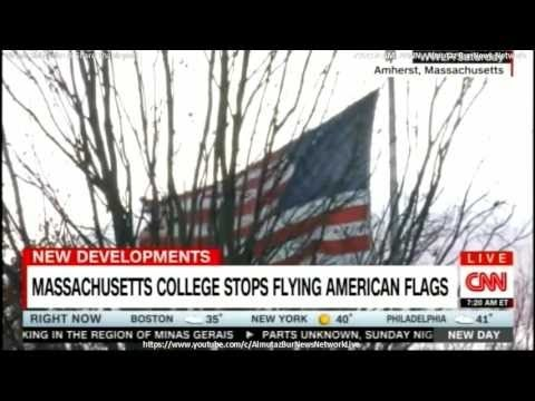 Massachusetts College Stops Flying American Flags.