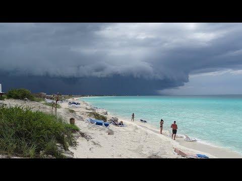 the scariest cloud that I've ever seen, Cuba, Playa Cayo Santa Maria,