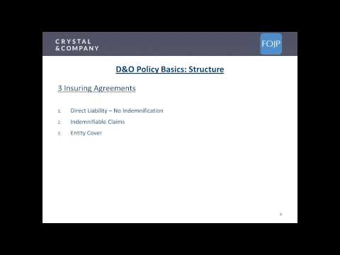 Directors & Officers, Employment Practice, and Fiduciary Liability Presentation