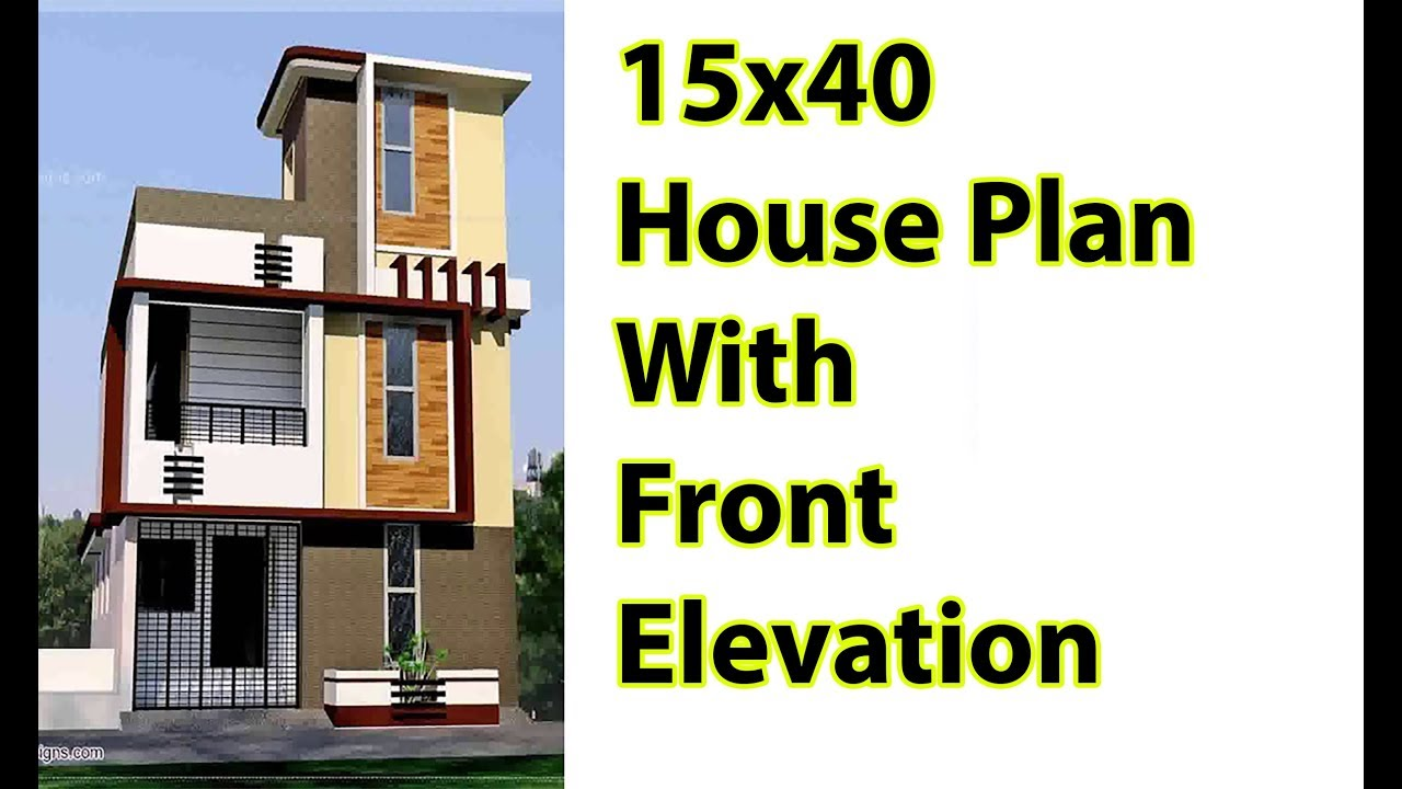 15x40 House Plane With Front Elevation 600 Sq Ft 3