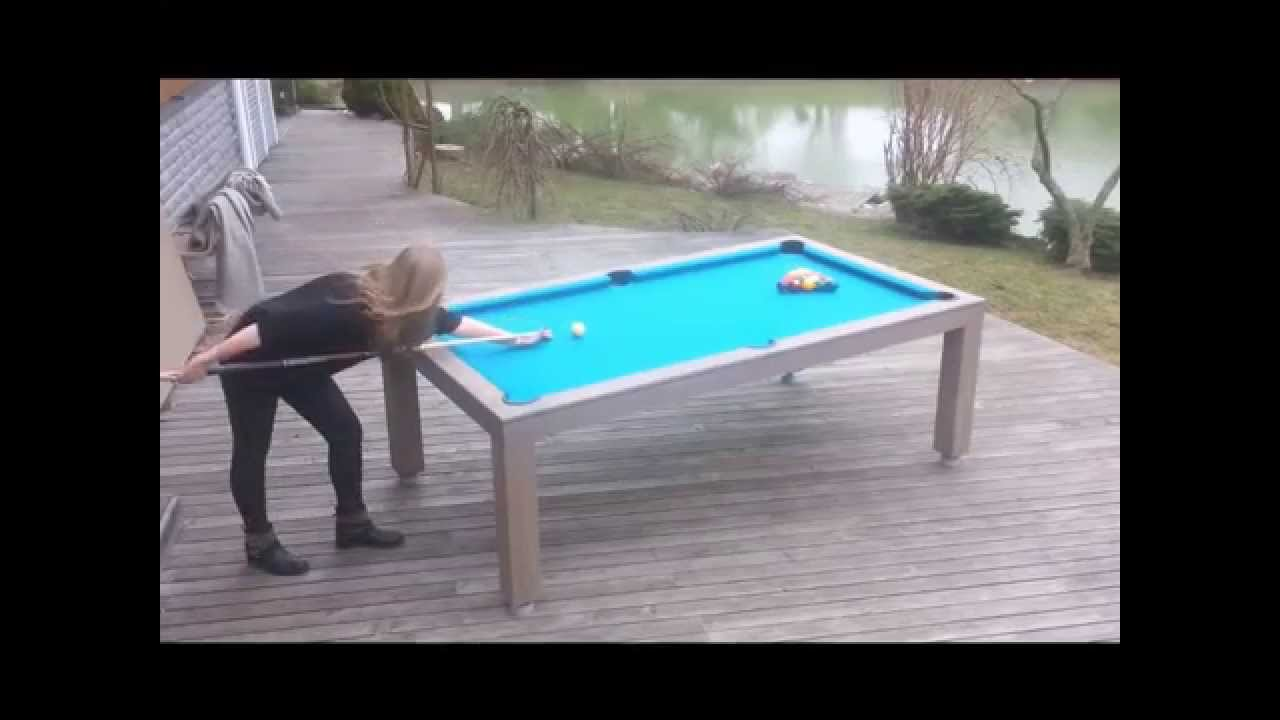 Outdoor Dining Pool Table - Dining room ideas