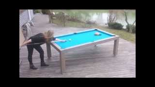 Vision Outdoor –  Dual Purpose Pool/dining Table For Outdoor