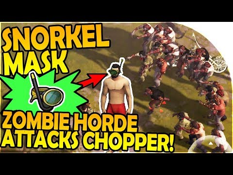 SNORKEL MASK - DOUBLE ZOMBIE HORDE ATTACKS CHOPPER EVENT - Last Day On Earth Survival 1.5.9 Update