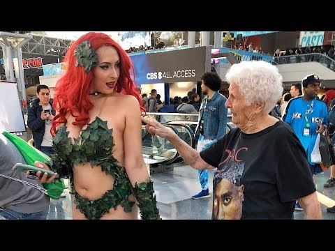 Grandma Pranks People At Comic Con 2019 | Ross Smith