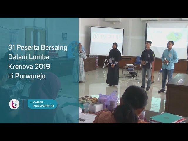 31 Peserta Bersaing Dalam Lomba Krenova 2019 di Purworejo