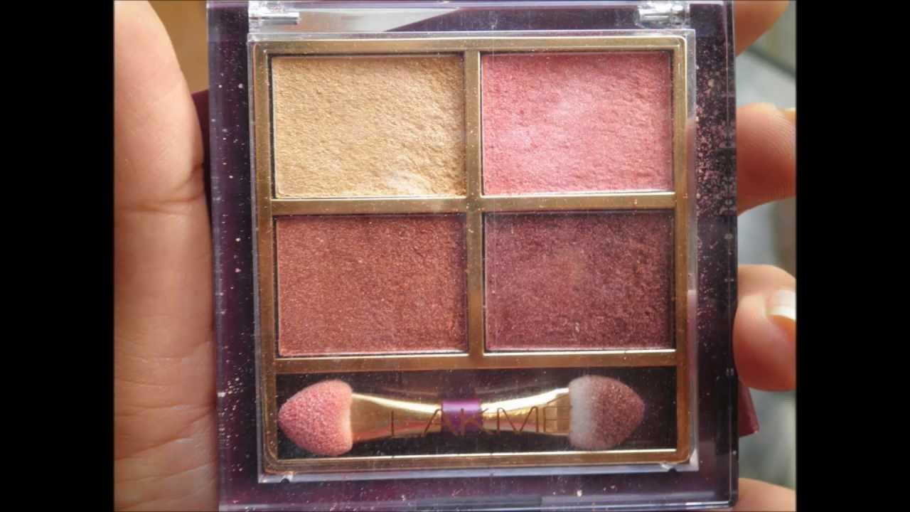 Lakme Eye Color Quartet Eye Shadow Quad Palette DESERT ROSE Review