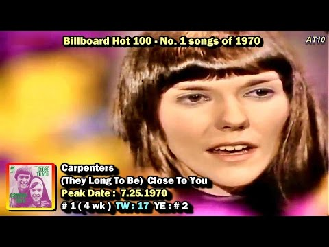 Billboard Hot 100 - No. 1 Songs of 1970  [1080p HD]