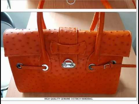 Real Genuine Ostrich Skin Leather Handbags For Women