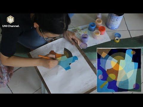 Bố cục màu Mỹ Thuật Công Nghiệp – Bài vẽ màu thứ 4 của học sinh lớp vẽ Chang Nguyễn