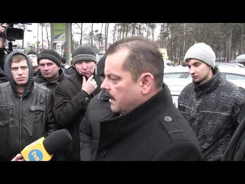 Protest rolników w Zakręcie - wypowiedź Sławomira Izdebskiego