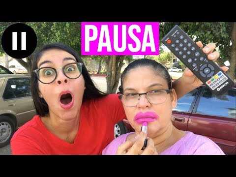 PAUSE ⏸️CHALLENGE With MOTHER For 24 HOURS | PAUSE CHALLENGE Con Mi MAMÁ Por 24 HORAS ⏱️