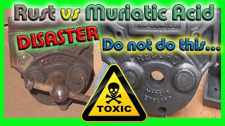 Rust vs Muriatic A¢id ***DISASTER*** Do not do this