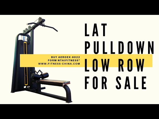 Back Extension Machines - Lat Pulldown Machines - Low Cable Rows