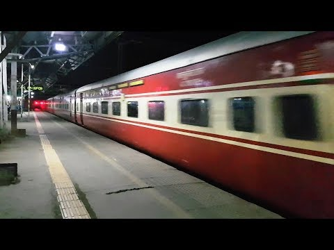 Amongst the Amazing Chase of Two Prestigious Trains in Indian Railways