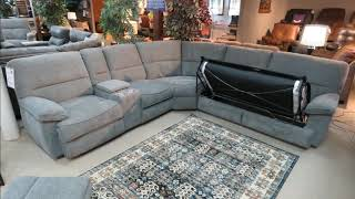 Power Reclining Sectional with Sleeper Sofa