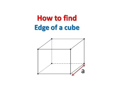 How to find Edge of a cube - YouTube