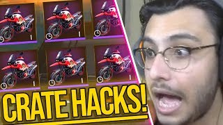 CRATE OPENING HACKS (CLICK 10 TIMES) | PUBG MOBILE HIGHLIGHTS | RAWKNEE