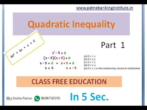 QuadraticInequilitiesForBank by class free education