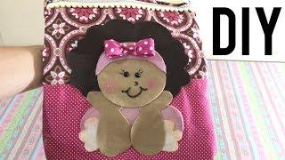 Como Fazer Bolsinha de Princesa sem Costura – DIY Artesanato