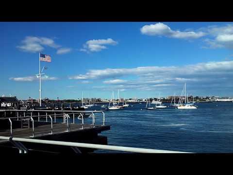 The Boston Harbor Walk in Downtown Boston