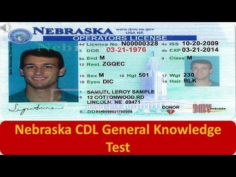 Nebraska CDL General Knowledge Test