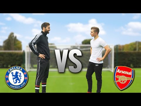 Facing Cesc Fabregas | ARSENAL v CHELSEA Football Challenge