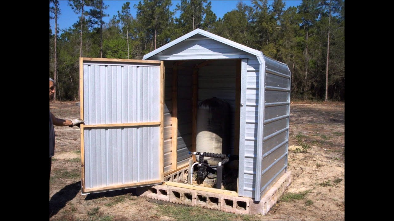 hight resolution of pump house well cover shed