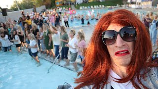 Sneaking into a WOMENS ONLY Pool PARTY! (caught by my wife)