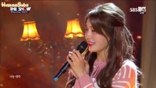 161011 New MCs Special Stage  I.O.I's Somi & UP10TION's Wooshin - Dream @ The Show (hun sub)