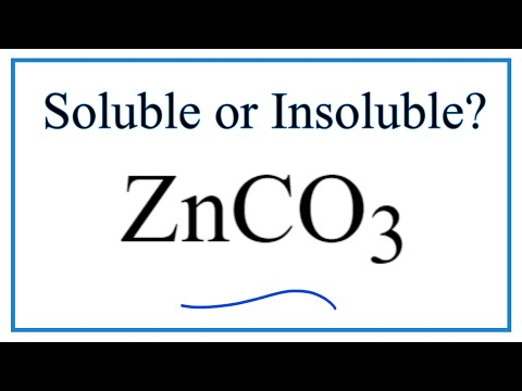 Is ZnCO3 Soluble Or Insoluble In Water?