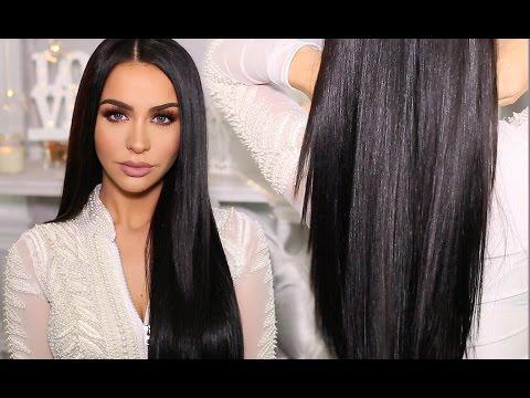 HOW TO: SLEEK & SHINY STRAIGHT HAIR | Carli Bybel