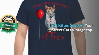 [funny halloween shirts] IT Clown Cat We all meow down here