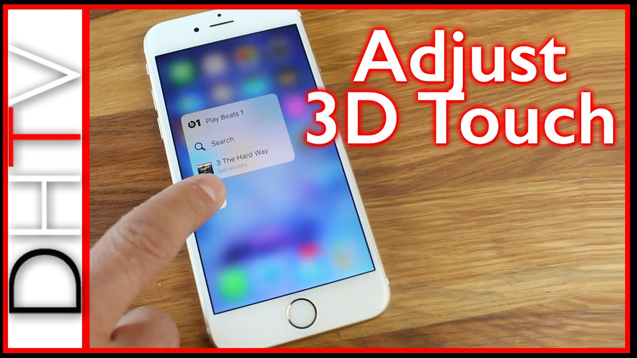 huge discount ac889 c8f1b How To Turn On/Off 3D Touch Or Customize The Sensitivity - iPhone 6s &  iPhone 6s Plus
