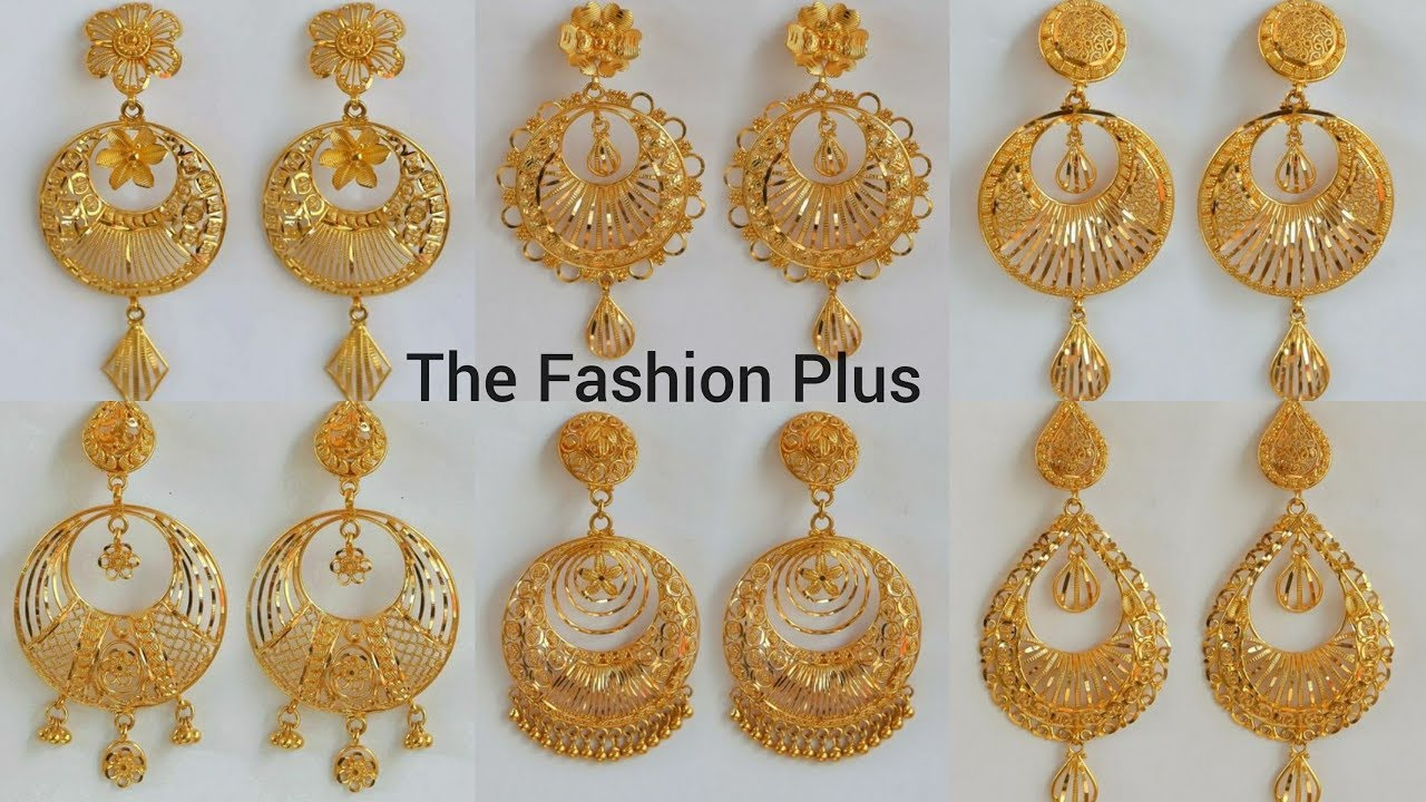 latest gold earrings designs with weight and price youtube