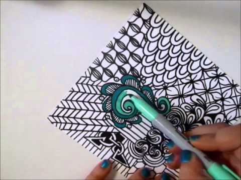 Quickie Sharpie Tangle Youtube