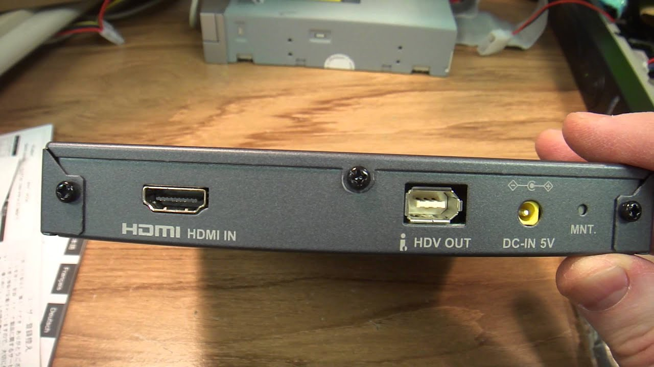 hdmi to hdv converter by grass valley advc hd50 ieee1394 ilink firewire [ 1280 x 720 Pixel ]