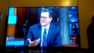 On Stephen Colbert ending to Zendaya