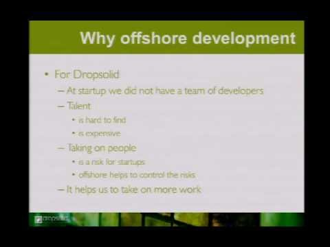 Dominique De Cooman - WORKING WITH OFFSHORE DEVELOPERS