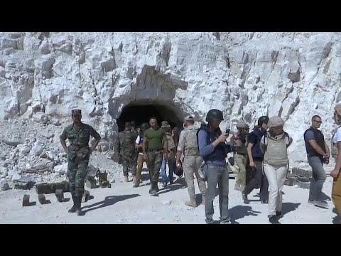 Rebellen-Höhlensystem in Syrien