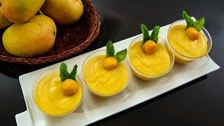 Eggless Mango Mousse  Eggless Recipe  Mango Recipes  No Gelatin Dessert Recipe by Ruchi Bharani