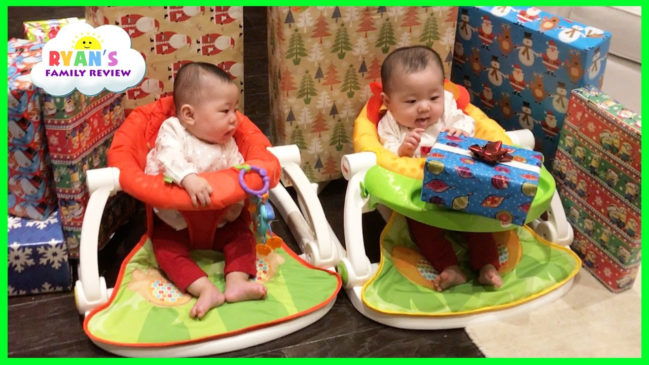 Twins Baby's First Christmas Morning 2016 Family Fun Games Ryan's Family Review Holiday Vlog ...